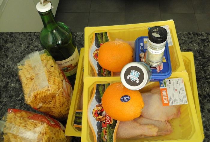 Bild zum Rezept Poulet mit Orangen-Rosmarin-Sauce. Die Zutaten.