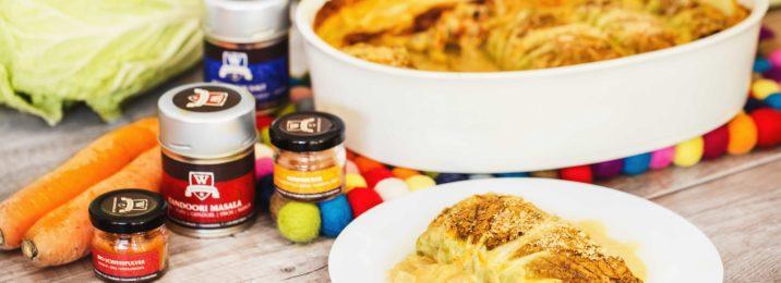 Winter-Cannelloni mit Würzmeister Memphisrub, Tandoori Masala und Cajun Salz