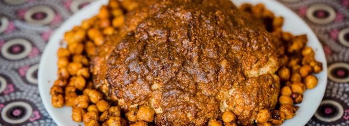 Ofenblumenkohl mit knackig scharfen Kichererbsen