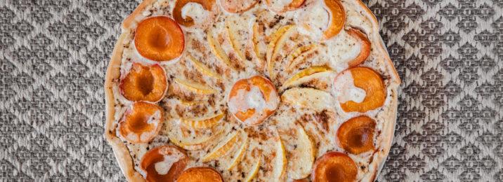 Aprikosen-Wähe mit Sweet Temptation Gewürz und Kokosmilch
