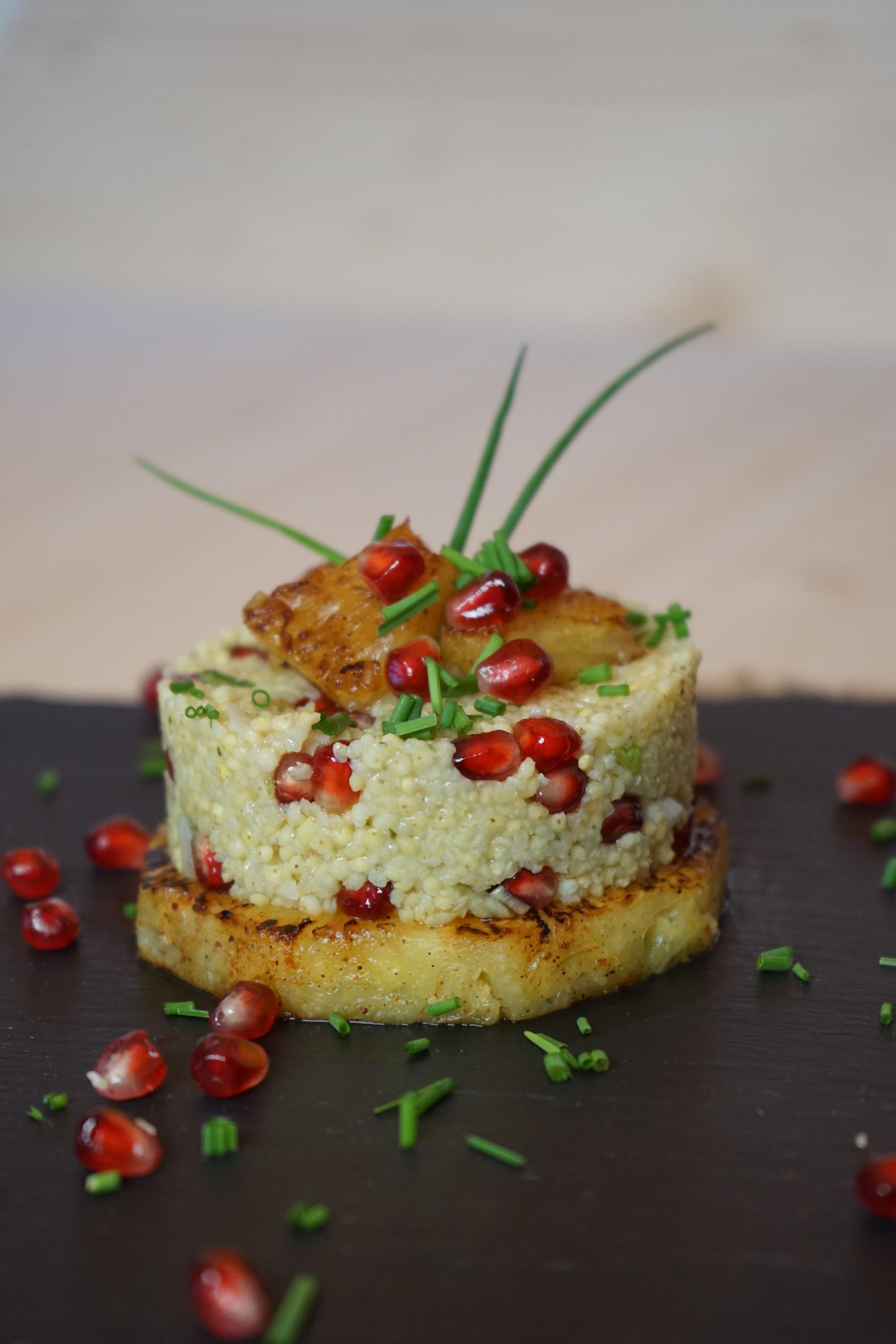 Hirsesalat mit Ananas, Aztekenfeuer und Bio Rosmarin-Knoblauchsalz