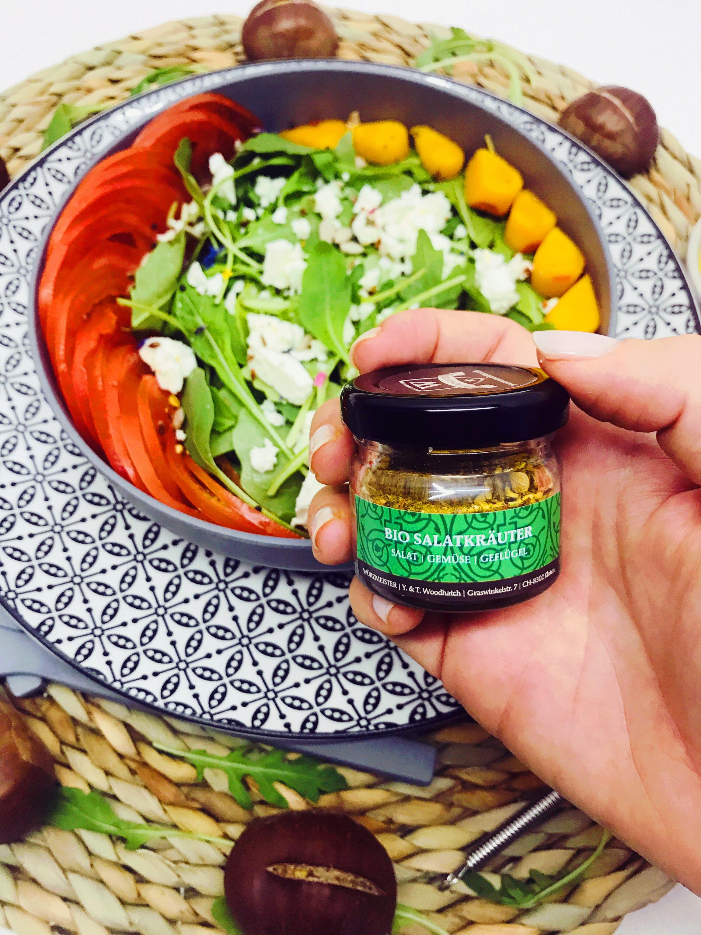 Herbstsalat mit Bio Salatkräutern von Würzmeistesr