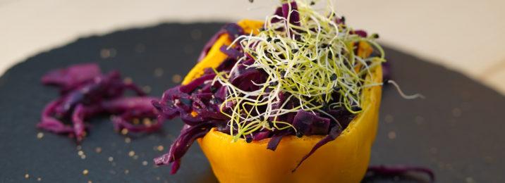 Mit Rotkraut gefüllte Peperoni mit dem Aroma Meister von Würzmeister